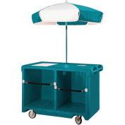 "Cambro CVC55192 - Camcruiser Vending Cart, 55-3/16""L x  31-1/4""W x 93-1/2""H, Granite Green"