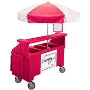 "Cambro CVC72158 - Camcruiser Vending Cart, 1 full size pan, 6"" deep, Hot Red"