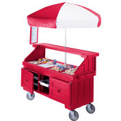 "Cambro CVC724158 - Camcruiser Vending Cart, 4 full size pans, 6"" deep, Hot Red"