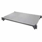 "Camshelving® Elements Mobile Shelf Plate Kit, 21""W x 60""L, Solid, Brushed Graphite"