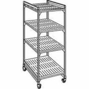 "Camshelving® Elements Mobile Starter Unit, 18""W x 36""L x 78""H, Brushed Graphite Premium casters"