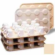 """cambro KK1200133 - Kup Keeper, 13-15/16 """"x 17-7/8"""", détient 12 tasses, plastique empilable, Regal, Beige, qté par paquet : 12"""