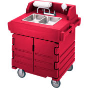 Cambro KSC402158 - Camkiosk Hand Sink Cart, Hot Red