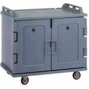 Cambro MDC1418S20191 - Meal Delivery Cart Low Profile, 2 Doors, 48-1/2 x 32-1/2 x 44, Granite Gray