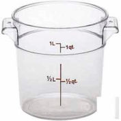 Cambro RFSCW1135 - Round Storage Container, 1 Qt., (Covers Sold Separately), Clear - Pkg Qty 12
