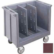 Cambro TDC30131 - Dish/Tray Cart adjustable with 2 dividers Dark Brown
