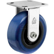 """Bassick® Prism Stainless Steel Rigid Caster - Eagle Urethane - 4"""" Dia."""