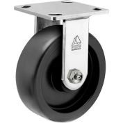 """Bassick® Prism Stainless Steel Rigid Caster - Polyolefin - 6"""" Dia."""