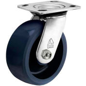 "Bassick® Prism Stainless Steel Swivel Caster - Solid Urethane - 4"" Dia."