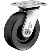 "Bassick® Prism Stainless Steel Swivel Caster - Phenolic - 4"" Dia."