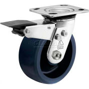 "Bassick® Prism Stainless Steel Total Lock Swivel Caster - Solid Urethane - 5"" Dia."