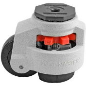 Foot Master® Swivel Stem Manual Leveling Caster GD-100S - 1650 Lb. Cap. - 75mm Dia. Nylon Wheel