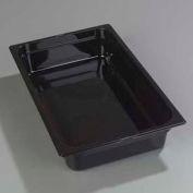 "Carlisle 1040103 - Topnotch® Full-Size Pan 20-3/4"" x 12-3/4"", Black, 4"" Deep - Pkg Qty 6"