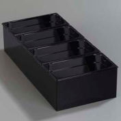 "Carlisle 1080603 - Condiment Food Station, with 4 1/6 Size, 4"" Deep, Top Notch Food Pans, Black"