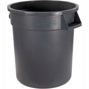 Carlisle Bronco Round Waste Container, 10 Gallon, Gray - 34101023