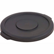Carlisle Bronco Round Waste Container Lid 55 Gallon, Gray - 34105623