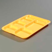 Carlisle 4398834 - Right-Hand Heavy Weight Compartment Tray, Bright Yellow - Pkg Qty 12