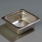"""Carlisle 608162 - Durapan™ lourds jauge marmite de format 1/6 6-7/8 """"x 6-1/4"""", 2-1/2» profondeur, qté par paquet : 6"""