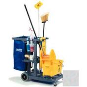 Carlisle® JC1945S23 Janitorial Cart, Short Platform - Gray