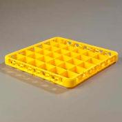 Carlisle RE36C04 - Opticlean™ 36-compartiment divisé verre Rack Extender, jaune, qté par paquet : 6