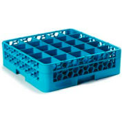 Carlisle RG25-114 - Opticlean™ 25-Compartment Glass Rack W/ 1 Extender, Carlisle Blue - Pkg Qty 4