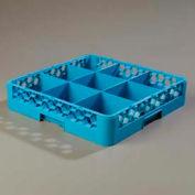 Carlisle RG914 - Opticlean™ 9-Compartment Glass Rack, Carlisle Blue - Pkg Qty 6