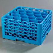 Carlisle RW20-314 - Opticlean Newave 20-Compartment Glass Rack W/ 4 Extenders, Carlisle Blue - Pkg Qty 2