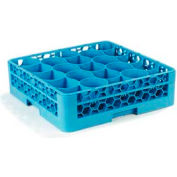 Carlisle RW2014 - Opticlean Newave 20-Compartment Glass Rack w/Integrated Extender -Blue - Pkg Qty 4