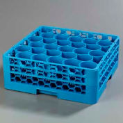 Carlisle RW30-114 - Opticlean Newave 30-Compartment Glass Rack W/ 2 Extenders, Carlisle Blue - Pkg Qty 3