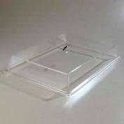 "Carlisle SC2707 - Pastry Tray Cover 20"" x 12"" x  4"" Clear Acrylic, Chrome Handle"
