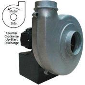Americraft Aluminum Blower, HADP9-3/4-T-TE-CCWUB, 3/4 HP, 3 PH, TEFC, CCW, Upblast