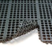 "Wearwell® 24/Seven GR Anti-Fatigue Mat, 5/8"" Thick, 3X3', Drainage Tile, Black"
