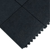 """Wearwell® 24/Seven Solid GR Anti-Fatigue Mat, 5/8"""" Thick, 3X3', Solid Tile, Black"""