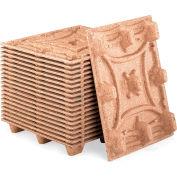 """Presswood emboîtable palettes - Standard - W 45"""" x 45 «L x 5,1» H - 2500 lb capacité étage, qté par paquet : 5"""