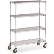 "Metro Super Adjustable Super Erecta Wire Shelf Trucks - 60"" Wx24"" D Shelf - 79"" H"