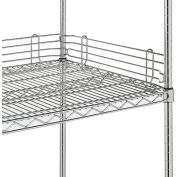 "Metro 4""H Side & Back Shelf Ledge for Open Wire Shelving - 48"""