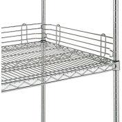 "4""H Shelf Back Ledge For Open Wire Shelving - 72"""