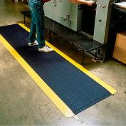 "Wearwell® Diamond-Plate SpongeCote™ Mat 9/16"" Thick 3' x 5' Black/Yellow Border"