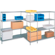 "Metro Super Erecta Brite Zinc Plated Open-Wire Shelving - 72""W X 24""D X 63""H - Starter Units"