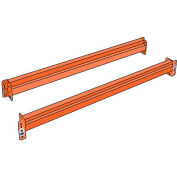 "Husky Rack & Wire Pallet Rack Teardrop Beam - 108""W x 4.8""H - 6,510 Lbs. Cap per/pair (2 PCS)"