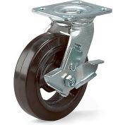 "Economical Casters - Rigid - 4""Dia.X2""W Phenolic Wheel"