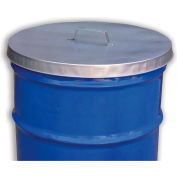 Vestil Galvanized Steel Drum Covers - With Handle - For Open-Head Drums