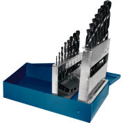"Century Drill 24015 - Black Oxide Drill Bit 15 Piece Set - 135° - 1/16"" to 1/2"" by 32nds"