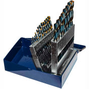 "Century Drill 25242 - Charger Drill Bit 21 Piece Set - 135° - 1/16 to 3/8"" by 64ths"