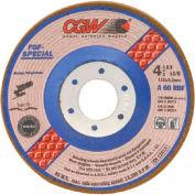 "CGW Abrasives 36281 Depressed Center Wheel 7"" x 1/8"" x 7/8"" Type 29 60 Grit Aluminum Oxide - Pkg Qty 25"