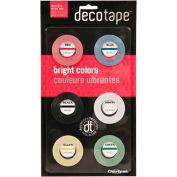 """Chartpak® ruban décoratif, DEC001,.13"""" W X 27' L, assorti"""