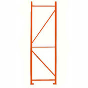"Cresswell Welded Upright Frame For Pallet Racks - 42"" x 120"" - Orange"