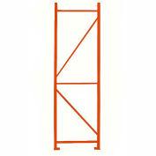 Bâti vertical soudé Cresswell pour supports à palettes - 42 po x144 po - Orange