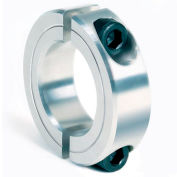 "Two-Piece Clamping Collar, 2-3/16"", Aluminum"