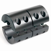 "Two-Piece Clamping Couplings Recessed Screw w/Keyway, 1-3/8"", Black Oxide Steel"